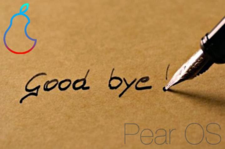 Pear OS, cest fini