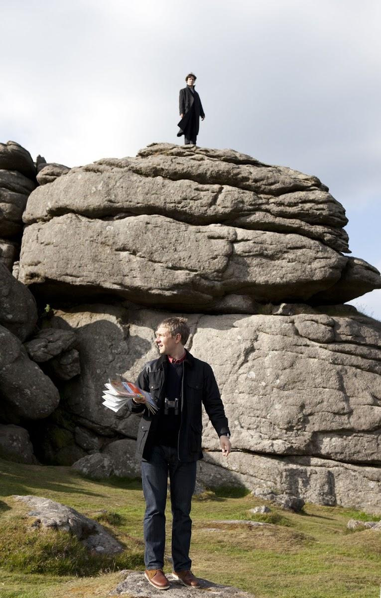 BBC Sherlock: The Hounds of Baskerville - Martin Freeman is Dr John Watson and Benedict Cumberbatch is Sherlock Holmes