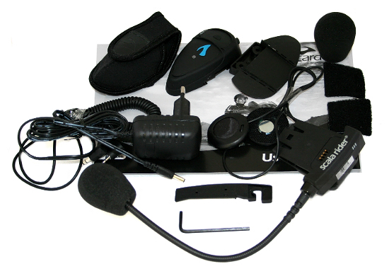 cardo scala rider q2 pro single motorcycle headset bluetooth communication ebay. Black Bedroom Furniture Sets. Home Design Ideas