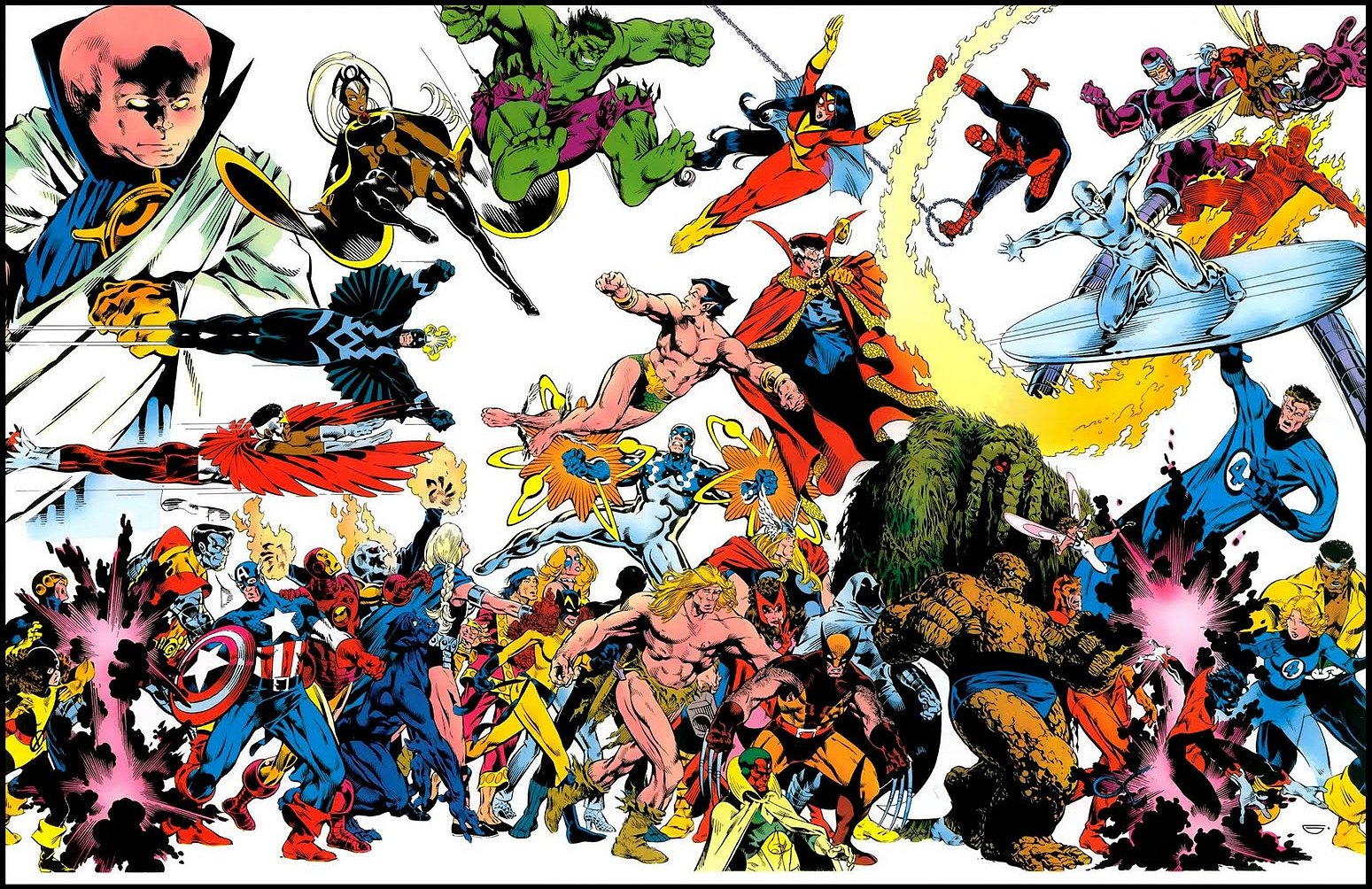 Marvel Comics of the 1980s: 1982 - Golden's Marvel Universe Poster Marvel
