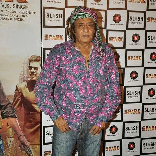Ranjeet at the trailer launch of Bollywood movie Spark, held at PVR in Mumbai, on July 21, 2014.(Pic: Viral Bhayani)