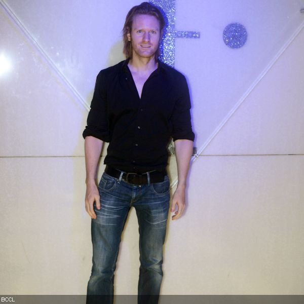 Alex O'Neil arrives at the first anniversary bash of F Lounge, held in Mumbai, on May 8, 2013.