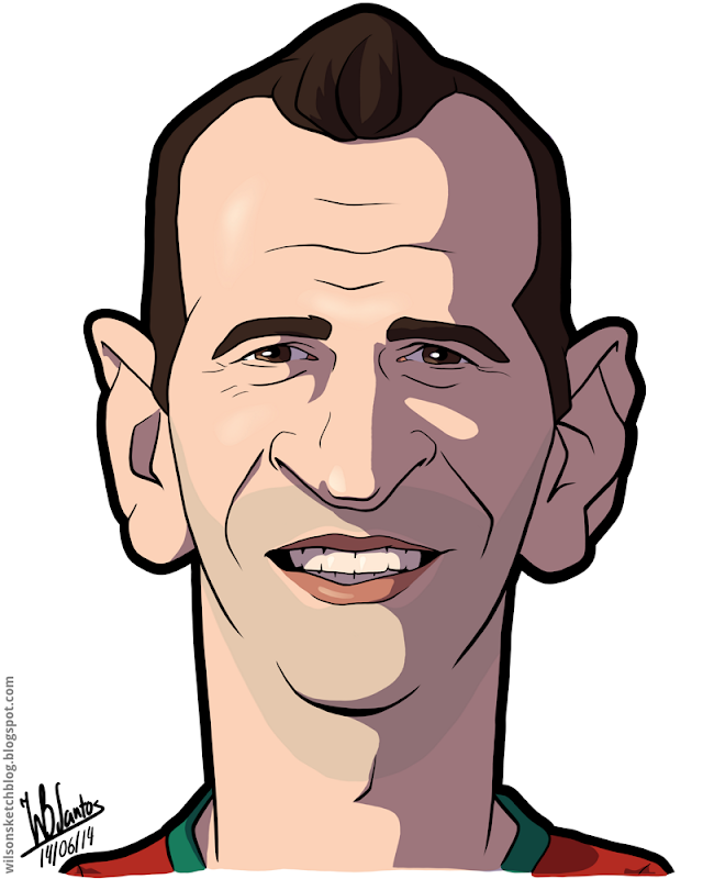 Cartoon caricature of Eduardo.