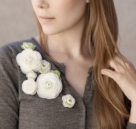Inspiração flores - cardigan