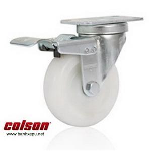 Bánh xe công nghiệp Nylon có khóa chịu tải 122kg | S2-5256-255C-B4W