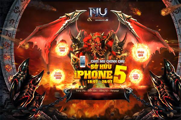 FPT Online tặng điện thoại iPhone 5 cho game thủ MU 1
