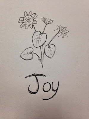 97 Hearts joy flower drawing