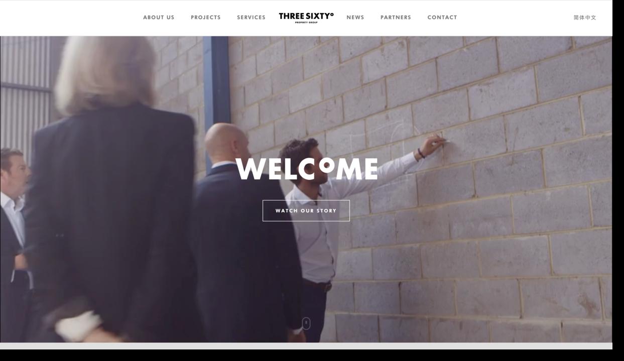 Three Sixty website screenshot