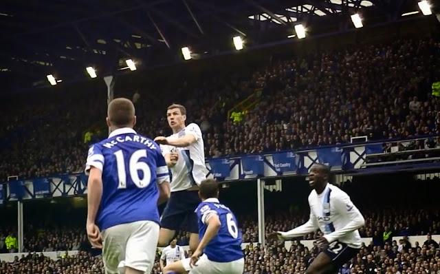 Dzeko, Everton - Manchester City