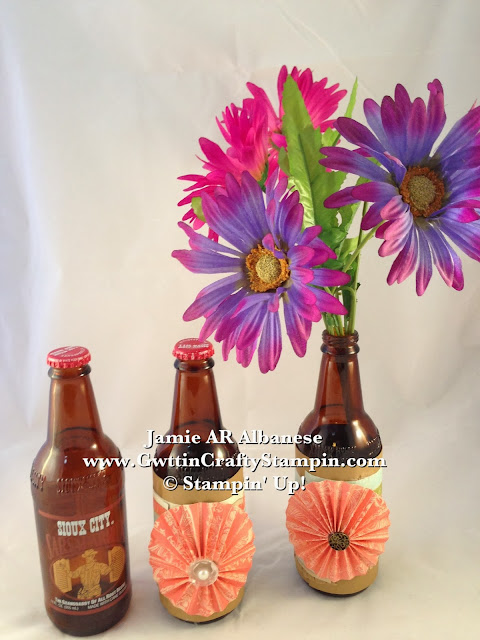 Getting Crafty With Jamie Repurpose That Bottle Make A Vase From