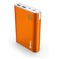 Jackery Giant+ Dual USB Portable Battery Charger & External Battery Pack for iPhone, iPad, Galaxy, and Android Smart Devices - 12,000 mAh
