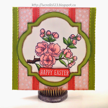 Linda Vich Creates: Indescribable Gift. Blendabilities, ruffled ribbons, and complementary card stock combine to produce a Spring-like Easter card.