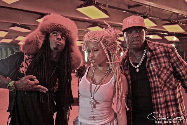 Foto do Lil Wayne, Nicki Minaj e Birdman