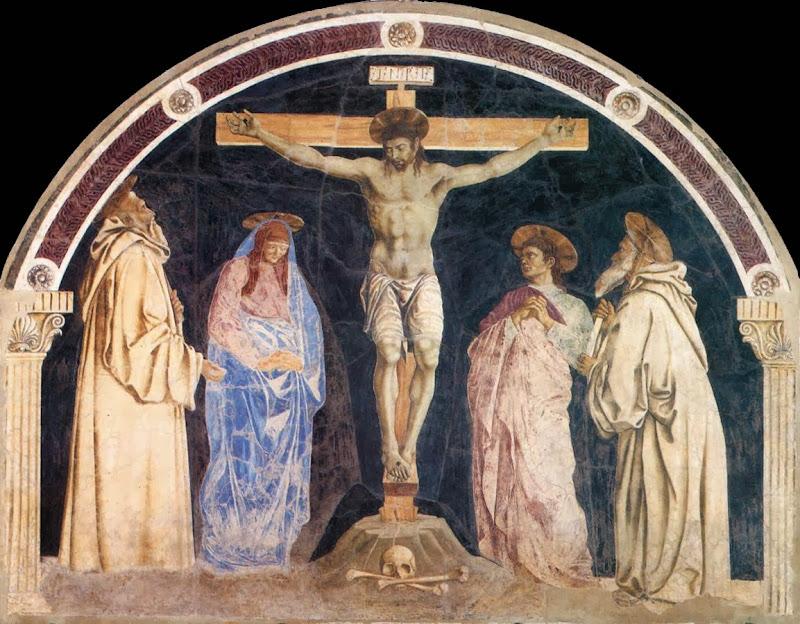 Andrea del Castagno - Crucifixion lunetta