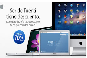 10% descuento productos apple  usuario tuenti