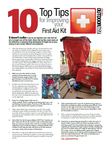 10 Top Tips for Improving Your First Aid Kit