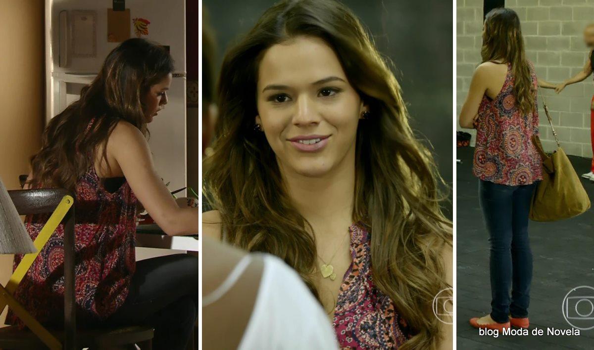 moda da novela Em Família - look da Luiza dia 2 de junho