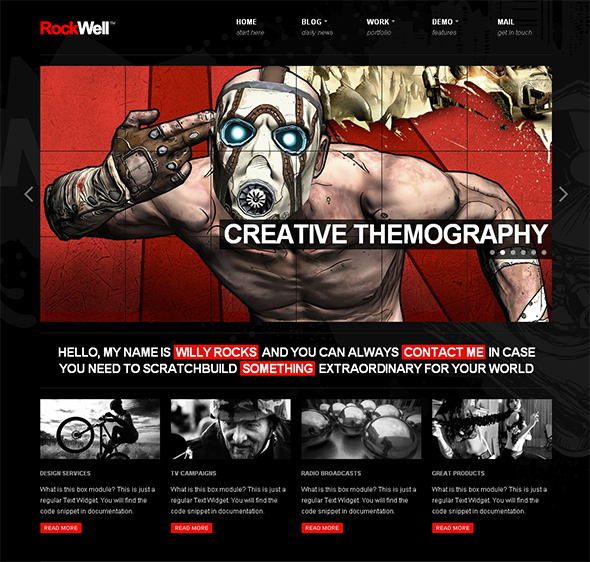 Rockwell Flexible WordPress Theme