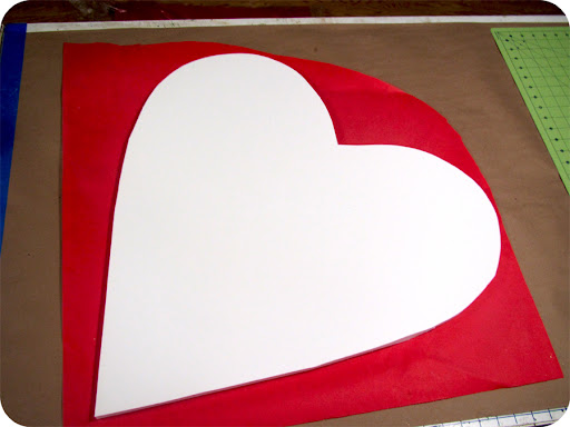 Flip the heart over, and trim the excess paper with a craft knife.