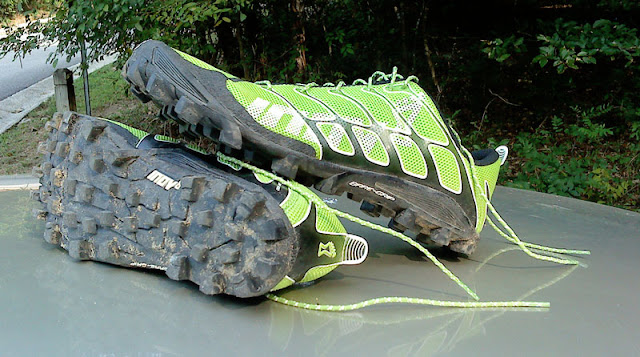 Inov-8 Bare-Grip 200 with a dirty outsole