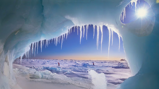 Ice Cave on Ellesmere Island, Nunavut, Canada.jpg
