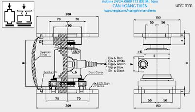 bản vẽ kỹ thuật loadcell cas wbk
