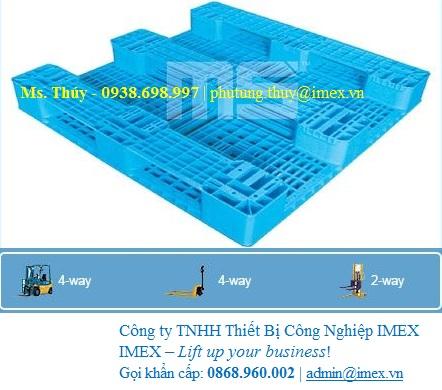 Pallet nhựa Malaysia 1200 x 1100mm
