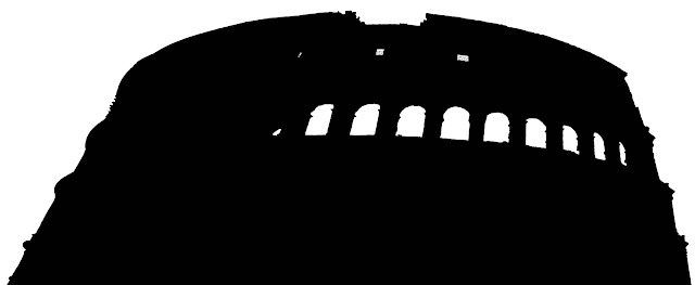 Colosseum silhouette front view