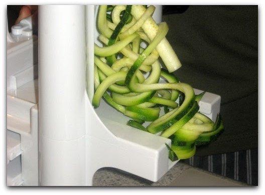 spiralizer spiral sliced zucchini
