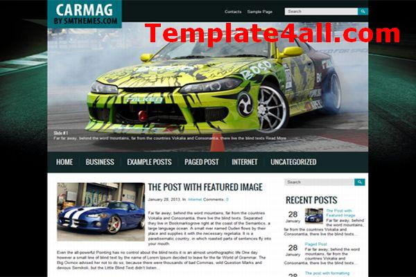 Free Automotive Cars Magazine Wordpress Theme