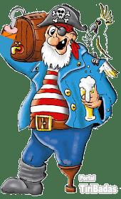 Um marinheiro e um pirata se encontram em um bar e começam a contar suas aventuras nos mares