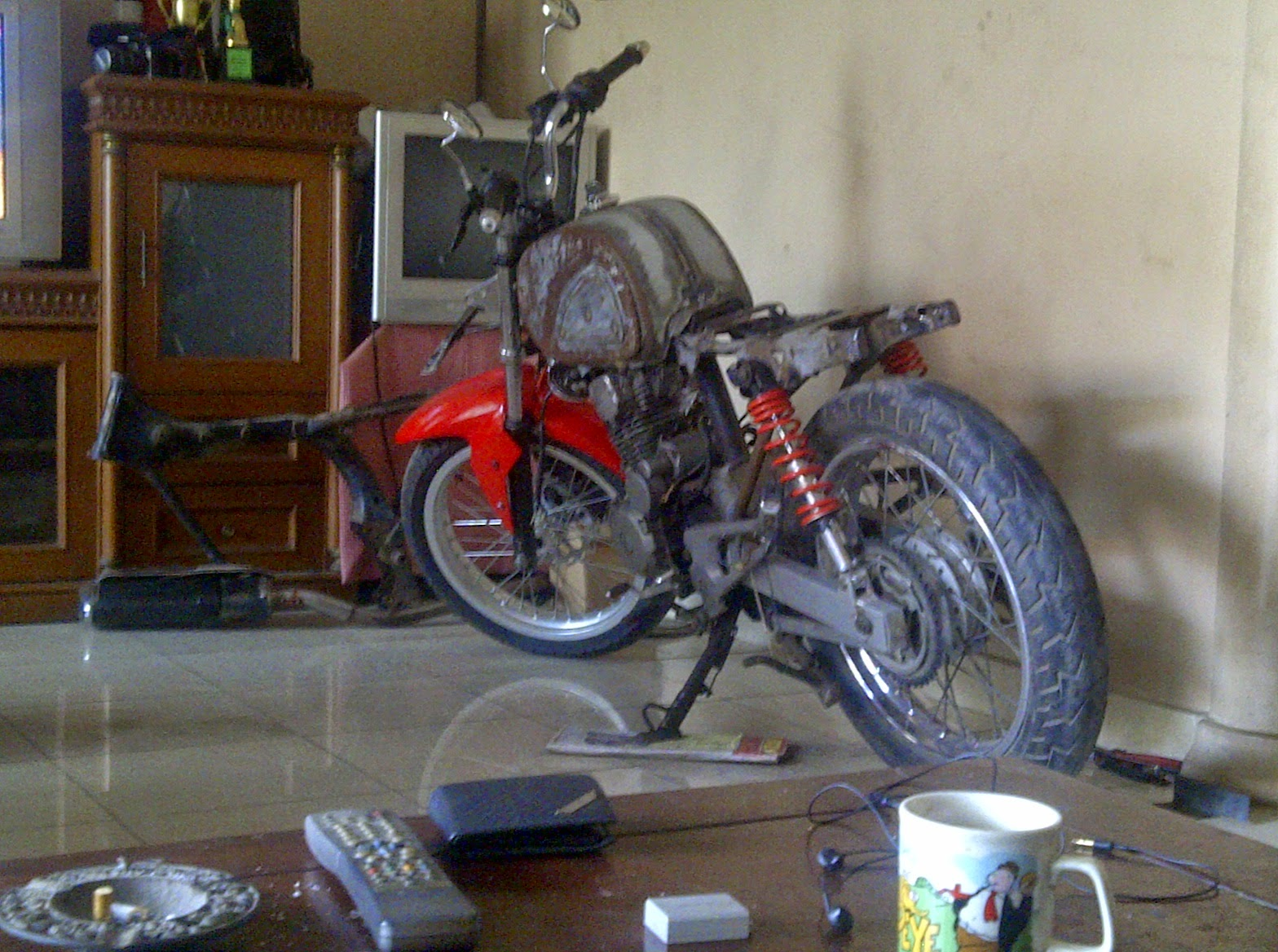 Honda Tiger Modifikasi Cb Dream Thecitycyclist