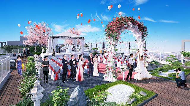 Trung tâm sự kiện trên mái của 201 Minh Khai