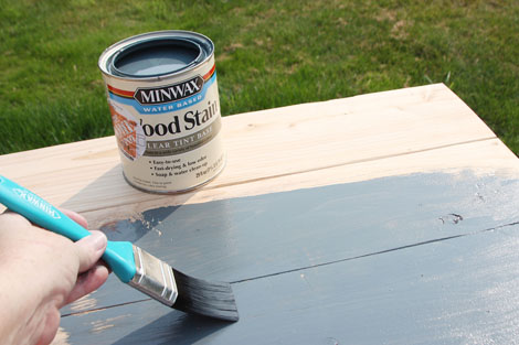 Ly Stain With The Minwax Water Based Brush Following Direction Of Wood Grain These Brushes Are Great They Not Only For