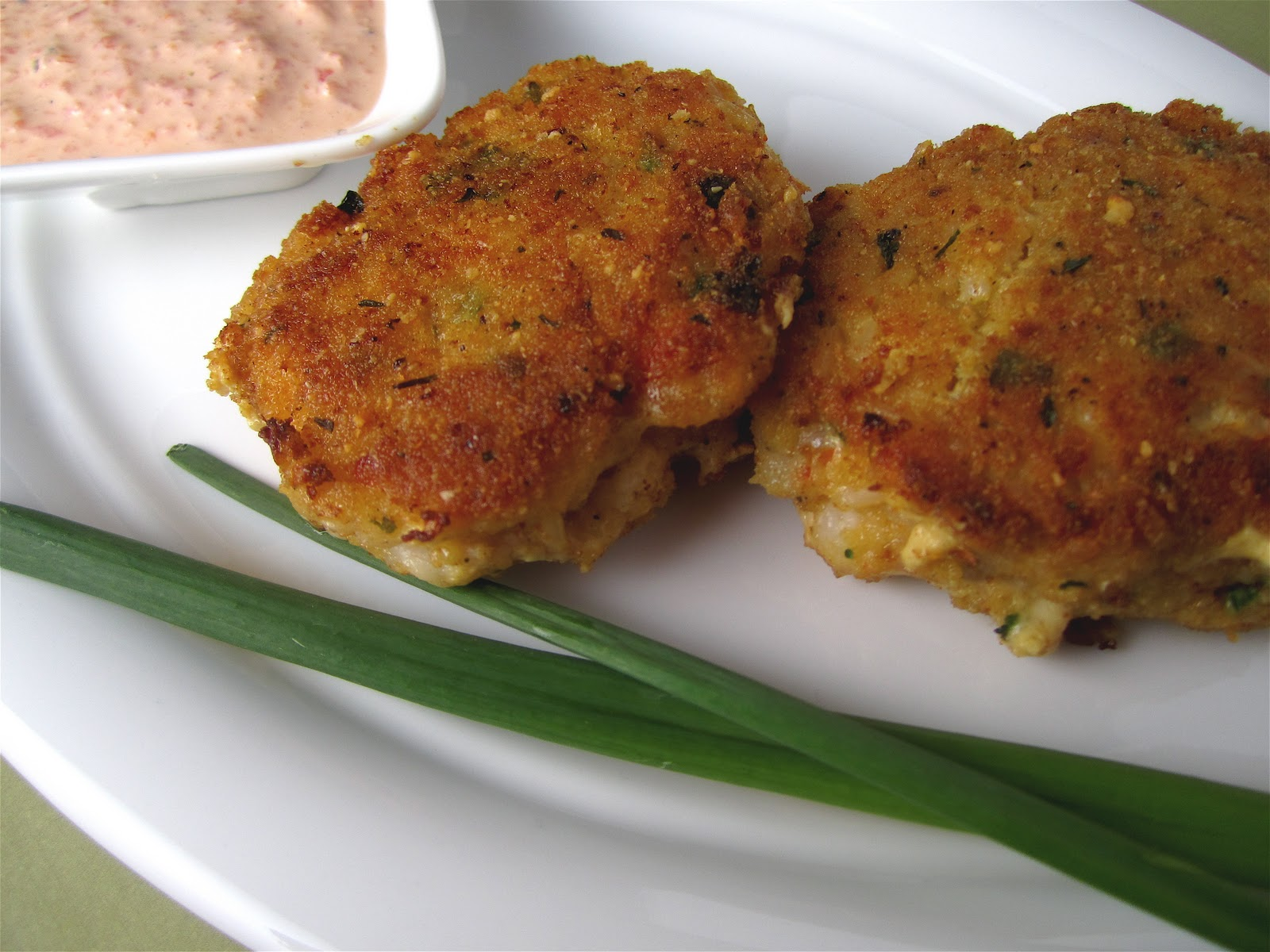 Shrimp Cakes with Red Pepper Sauce