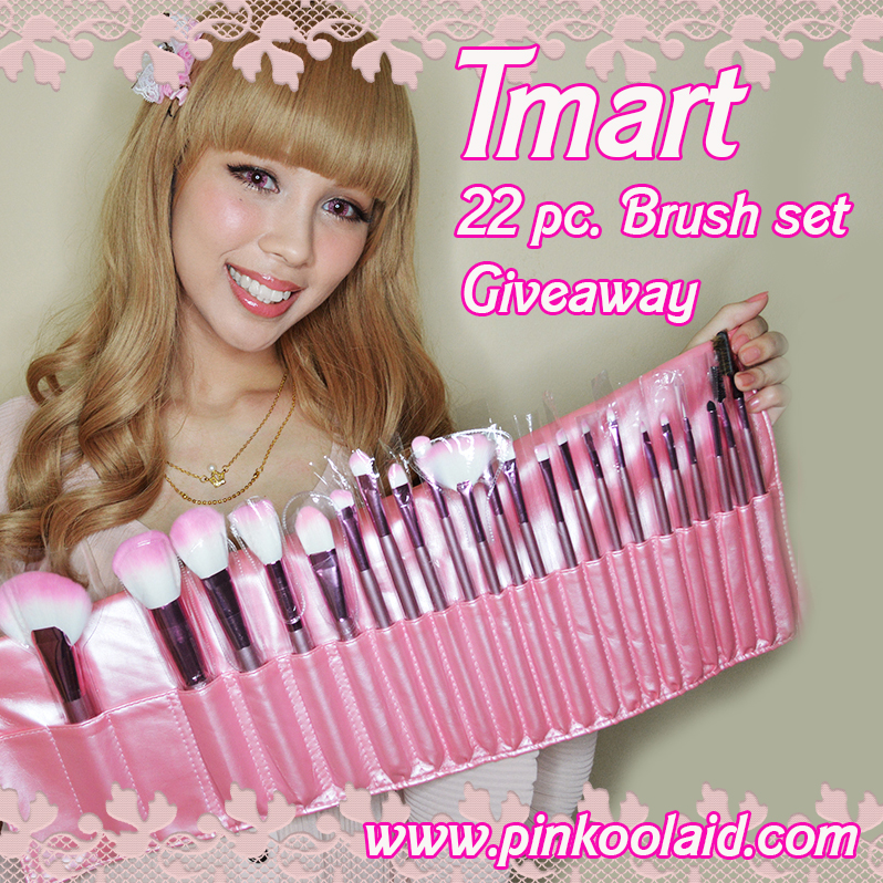 Pinkoolaid Tmart Brush Set Giveaway