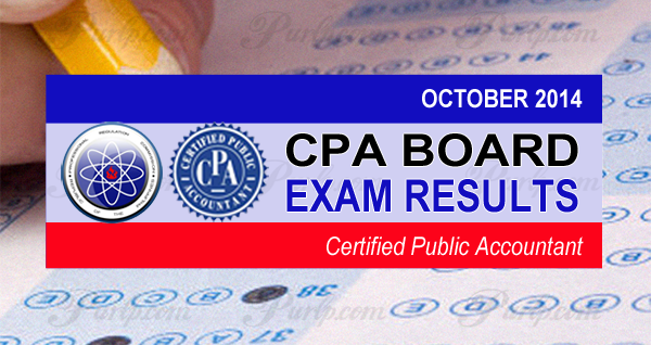 October 2014 CPA Board Exam Results, List of Passers