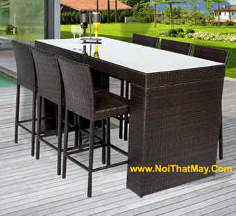 Outdoor Wicker Bar Set Minh Thy 817