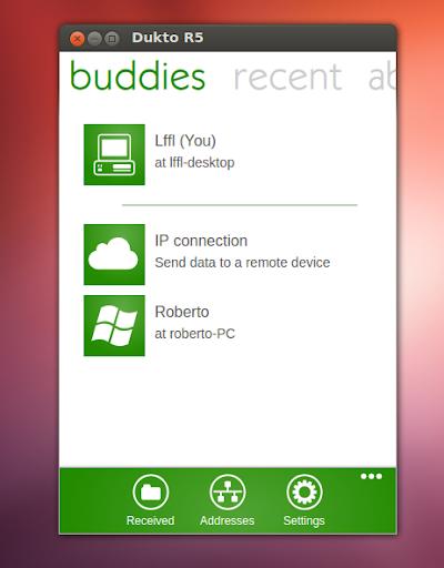 Dukto R5 su Ubuntu