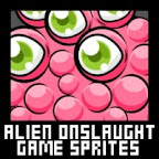 Alien Shooter Game Sprites