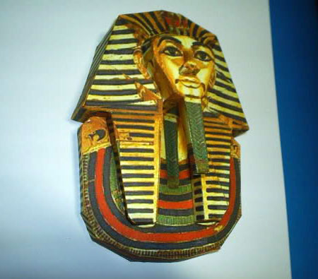 Tutankhamun Death Mask Papercraft