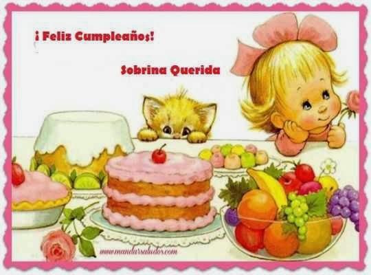 Frases de cumpleaños para una sobrina