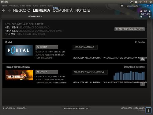Team Fortress 2 - Steam per Linux - installazione