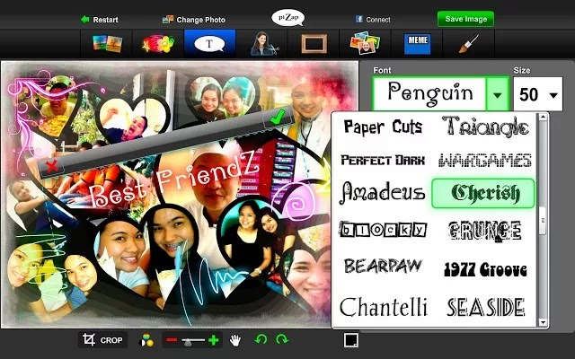 PiZap Photo Editor chrome extension