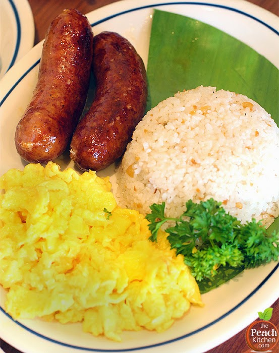 IHOP Filipino Breakfast: Savory Pork Longgganisa | www.thepeachkitchen.com