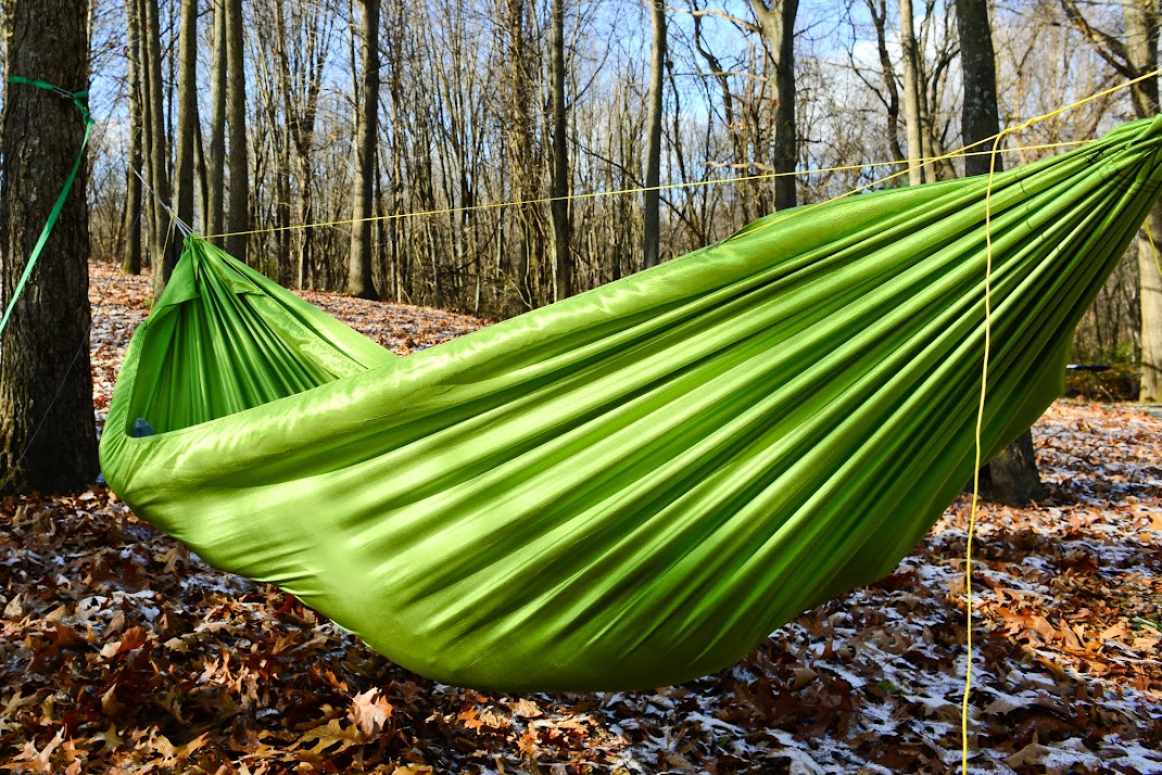 it is difficult to really show it but this is the outside when i u0027m inside  new hammock design   gathered end  u0026 origami footbox  rh   hammockforums