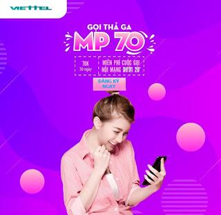 Miễn phí tất cả các cuộc gọi Nội mạng Gói MP70 Viettel