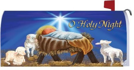 O Holy Night Magnetic Mailbox Cover Christmas Wrap