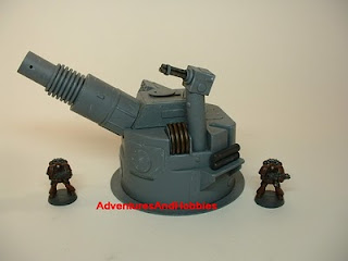 Heavy cannon turret left view Science Fiction war game terrain and scenery