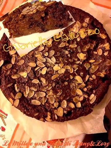 torta di pane al cacao e gocce di cioccolato